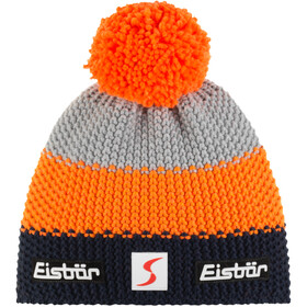 Eisbär Star Gorro Pompon SP, dark cobalt/orange mottled/light grey